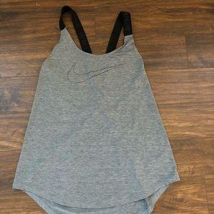 Gray Nike Workout Tank